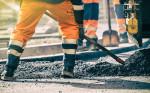 Bauarbeiten an Straße
