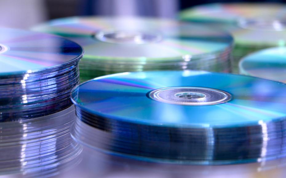 Mehrere CDs auf einem Stapel