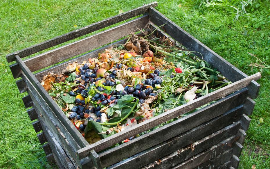 Kompost in Garten