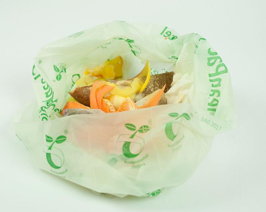 Kompostierbare Kunststoffmüllbeutel