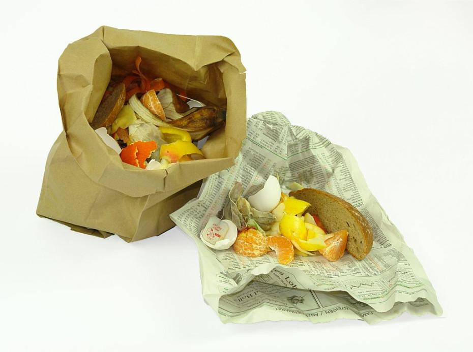 Papierverpackung für Bioabfälle