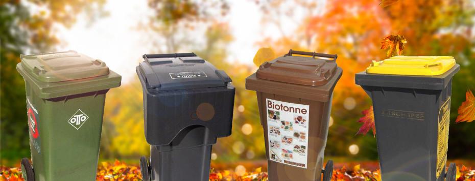 Die verschiedenen Abfallbehälter