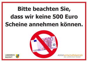 Keine 500 Euro Scheine