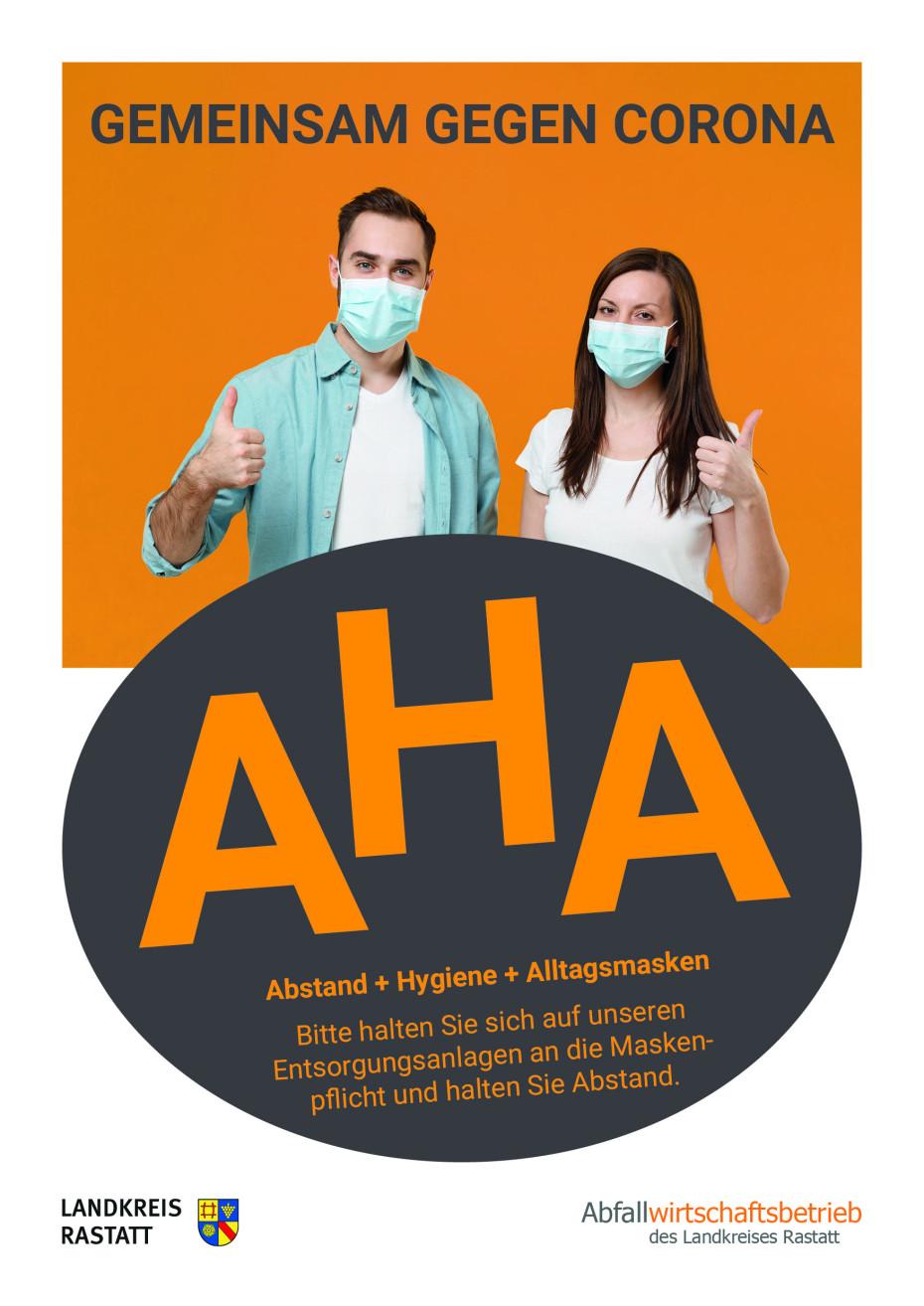 Corona: AHA Regeln bitte auf Entsorgungsanlagen einhalten