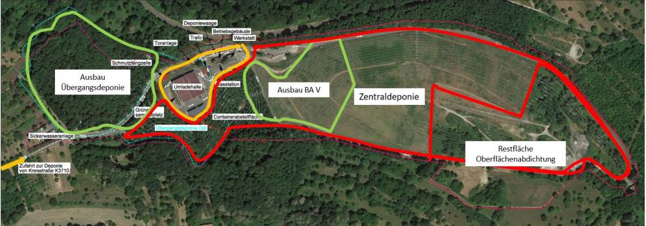 Projektentwicklung zum weiteren Betrieb der Entsorgungsanlage Hintere Dollert - Übersicht der MAßnahmen