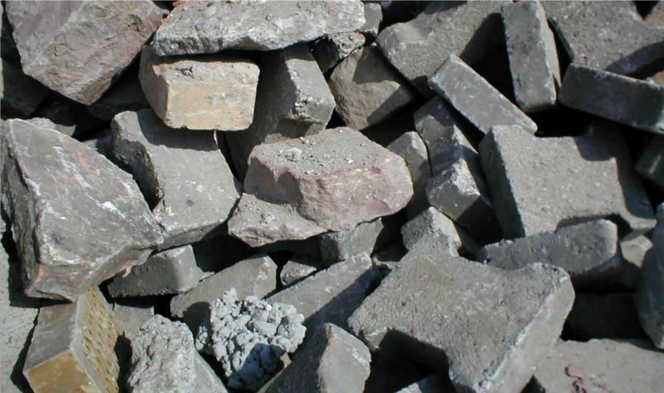 Material für Bauschuttrecycling